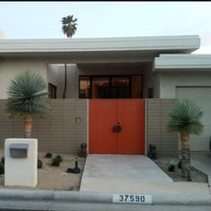 Orange door in Palm Springs