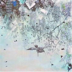 Marmont Hill Winter by Tracy Silva Barbosa Painting Print on Canvas, Size: 18 inch x 18 inch, Multicolor