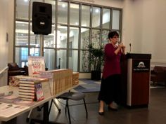 Here I am speaking in the library in Jacksonville FL, Sept 3, 2013