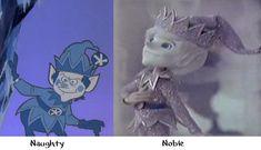 Jack Frost cartoon comparison