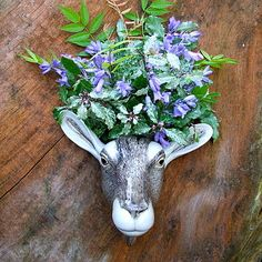 Ceramic Goat Wall Vase