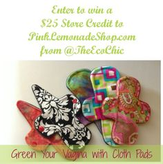 Green Your Vagina with Cloth Pads @TheEcoChic #green # menstrual #pads @theecochic @pinklemonadesue
