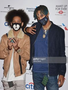 Ayo (R) and Teo arrive at the Universal Music Group's 2017 GRAMMY After Party at The Theatre at Ace Hotel on February 12, 2017 in Los Angeles, California.