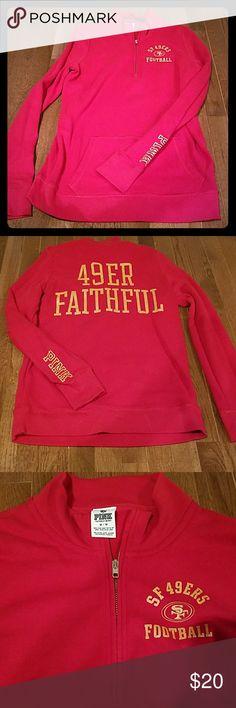 San Francisco 49ers Sweatshirt Victorias Secret PINK SF 49ers sweatshirt PINK Victoria's Secret Tops Sweatshirts & Hoodies