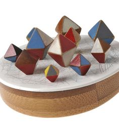 All Katy Hackney images at Velvet da Vinci Gallery, Wooden Jewelry, Jewelry Art, Jewelry Design, Diamond Brooch, Geometric Jewelry, Contemporary Jewellery, Contemporary Art, Vintage Toys, Decorative Bowls