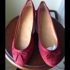 🔥Just Reduced🔥 J CREW Ballet flat shoes NEW J CREW Classic Suede Ballet Flats  Color: Crimson Maple J. Crew Shoes