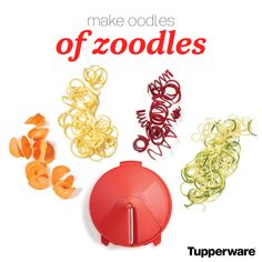 Oooodles of Zoodles Zucchini Noodle Recipes, Zoodle Recipes, Spiralizer Recipes, My Recipes, Tupperware Storage, Tupperware Recipes, Tupperware Consultant, Recipe For Success, Kitchen Must Haves