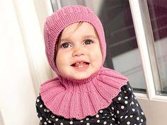 Описание вязания на спицах шапки-капюшона для девочки из журнала Burda. Creazion №1/2013
