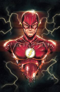 The Flash Bust Painting Poster Print