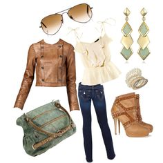 """LEATHER JACKET"" by browneyedgurl111580 on Polyvore. Love it all!"