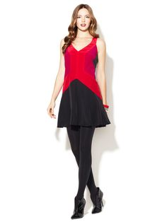 Georgette Silk Colorblock Shift by Jay Godfrey at Gilt