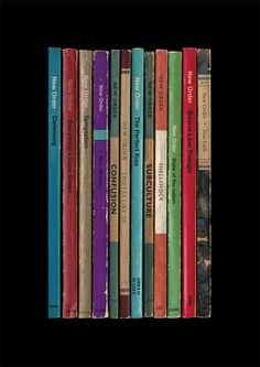 New Order 'Substance' Album As Books Poster by StandardDesigns, £12.50