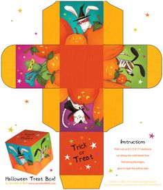 Printable Halloween Box (FREE) by We Love to Illustrate