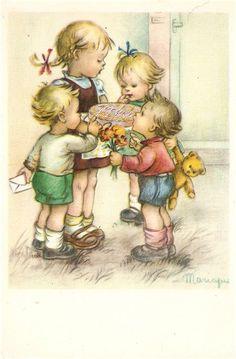 винтажные детские картинки - Поиск в Google