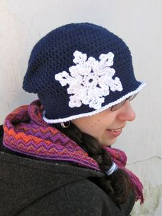 Crocheted Snowflake Cloche: Remove the snowflake and wear this cloche from Fall until Spring.