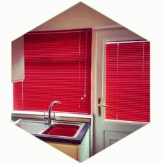 Perfect fit Venetian. Don't be afraid of vibrant colours, they truly transform a plain room!! #hannanblinds