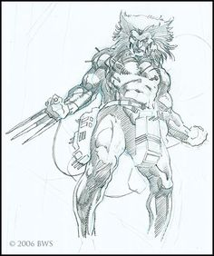 Weapon X by Barry Windsor Smith Comic Book Artists, Comic Book Characters, Comic Artist, Comic Character, Comic Books Art, Character Design, Marvel Characters, Marvel Art, Marvel Comics