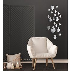DIY Removable Home Living Room Decorate Wll Decals OHREX Geometric Hexagon 3D Acrylic Mirror Wall Stickers