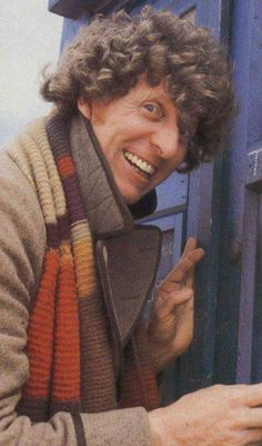 All of time and space in a big blue box. The 4th Doctor, Tom Baker
