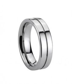 6mm Thin Groove Tungsten Carbide Ring