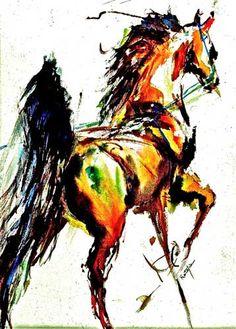 American saddlebred art Carol Ratafia