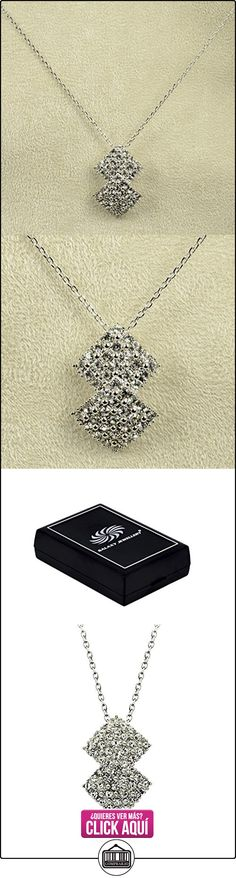 Collar con Cristal de Swarovski 18K Chapado en Oro Blanco  ✿ Joyas para mujer - Las mejores ofertas ✿ ▬► Ver oferta: http://comprar.io/goto/B0154HHHWW