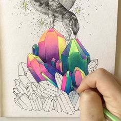 "9,088 Likes, 82 Comments - Grace (@foundbygrace_) on Instagram: ""Tip: Use gel pens and watercolor in conjunction with one another to achieve brighter pops of color…"""