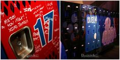 Bar Mitzvah Locker Sign In & Custom Airbrushed Lockers - Designed by Showplace Floral Design & Event Decor - mazelmoments.com