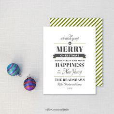 Playbill - Mini Christmas Card | The Occasional Hello