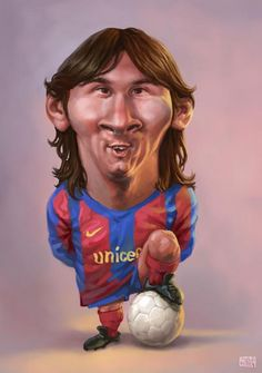 #Funny looking cartoonized #Soccer players #Lionel #Messi