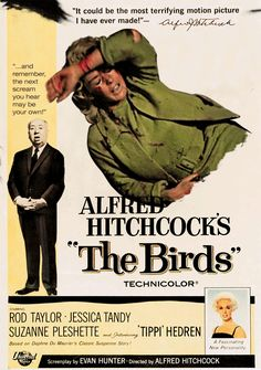 """A small California town is attacked by thousands of birds."" Find Alfred Hitchcock's THE BIRDS in our catalog: http://highlandpark.bibliocommons.com/item/show/4025035_alfred_hitchcocks_the_birds"