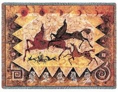 Oglalas Story Woven Tapestry Throw