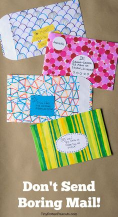 Ideas for making really cool decorated envelopes