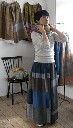 :: tamaki niime 展 :: : shop mo∴ Tamaki Niime, Skirt Pants, Dress Skirt, Elisa Cavaletti, Power Dressing, Advanced Style, Boho Fashion, Womens Fashion, Couture