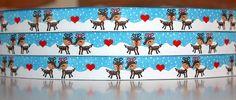 Mein erstes eigenes Webband Rudolph & Rudolphine in Love. Zufinden im Dawanda Shop unter Nähsachen... die Freude machen. Design by Yvonne Cataffo