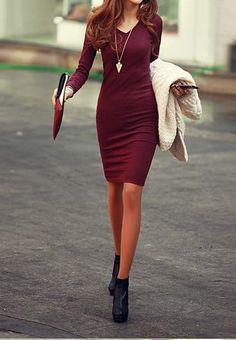love a long sleeve sweater dress - winter staple