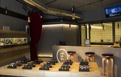 One day at Clerigos In, an optical concept store at Oporto-clerigosin-store-interior-design Commercial Interior Design, Commercial Interiors, Portugal, Rustic Lamps, Mid Century Lighting, Mid Century Design, Floor Lamp, Table Lamp, Concept