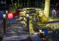 DIY Cedar Cube Solar Landscape Lights DIY Cedar Cube Solar Landscape LightsBy ♥ · · · · · · · · Inexpensive solar landscape lights are great, but they suffer from two major flaw Maria B, Backyard Lighting, Outdoor Lighting, Lighting Ideas, Outdoor Ponds, Diy Pond, Backyard Landscaping, Backyard Ideas, Outdoor Ideas