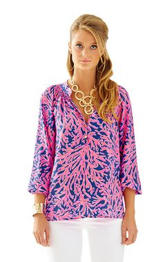 b3cd1d13cd19 Elsa Top - Did You Catch That - Lilly Pulitzer Lilly Pulitzer
