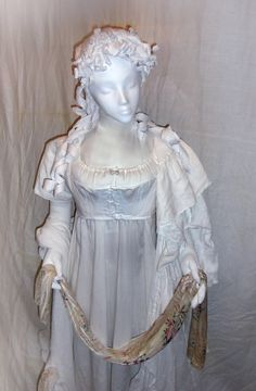 "Another view of the lingerie lady. Note the gussets in the ""short stays"" to accommodate the raised and rounded bustline."