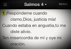 Señor, escucha las oraciones de tu pueblo. #Venezuela #Promesa Salmo 4:1