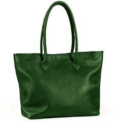 melikafashion.com | Classic Tote Bag in Dark Green
