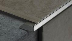 How to Finish Tile Edges and Corners Ceramic Floor Tiles, Wall Tiles, Ceiling Light Design, Ceiling Lights, Lighting Design, Floor Edging, Fitted Bathroom, Master Bathroom, Tile Edge
