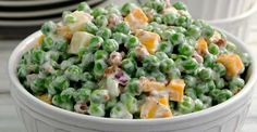 Creamy pea salad offers a great variation and change from the traditional potato salad that so often ...