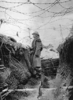 Keeping the watch in winter. Veterans agree to say it was one of the worst line duty because of the solitude, cold, fear from snipers and trench raids to capture isolated sentinels.
