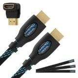 Deals for Twisted Veins (10 ft) High Speed HDMI Cable + Right Angle Adapter and Velcro discount