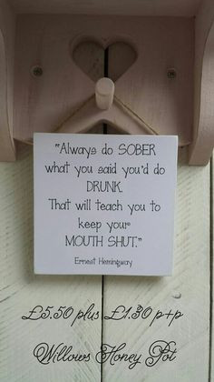 Funny drinking plaque