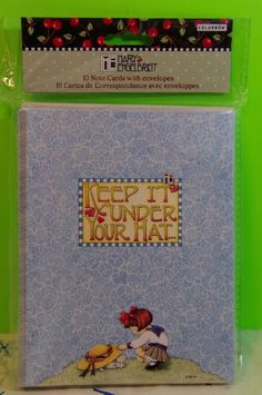 Mary Engelbreit KEEP IT UNDER YOUR HAT 9 Blank Cards And Envelopes   eBay
