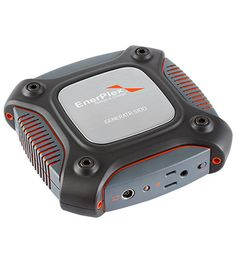 Enerplex Generatr S100 § 98 Whrs portable battery § USB, 12V, Laptop Port, and integrated AC Inverter Outputs § Can charge any electronic device up to a laptop § Dual Charging Capabilities