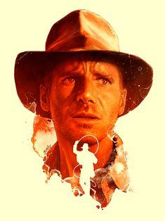 Indiana Jones by Eugen Marius Henry Jones Jr, Indiana Jones Films, Image Film, Kino Film, Adventure Movies, Alternative Movie Posters, Wow Art, Movie Poster Art, Harrison Ford